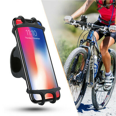 Silicone Motorcycle Bike Bicycle Handlebar Mount Holder for iPhone X 8 Plus 6s 7