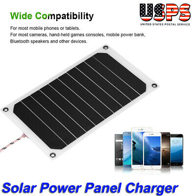 Portable 10W 5V IP64 Waterproof Solar Panel Mobile Power Charger 5V USB Charging
