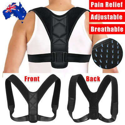 Posture Clavicle Support Corrector Shoulders Brace Strap Back Straight Correct