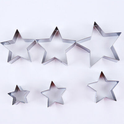 6pcs Star Shape Pastry Cookie Cake Cutter Biscuit Metal Cutter Baking Mold 8C