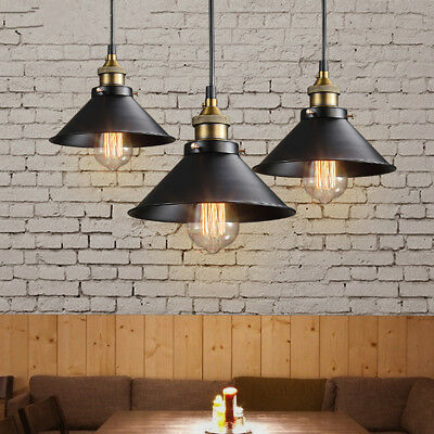 Iron Industrial Vintage Fixture Ceiling Lamp Pendant Light Loft Cafe Chandelier