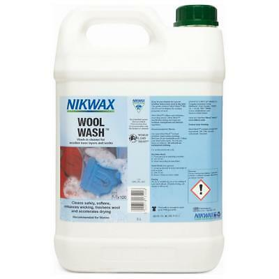 New Nikwax Wool Wash 5 Litre Fabric Washing Treatment Cleaning