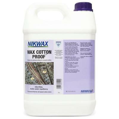 Nikwax Wax Cotton Proofer 5 Litre Fabric Washing Treatment Assorted