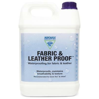 New Nikwax Fabric Leather Proofer 5 Litre Fabric Washing Treatment
