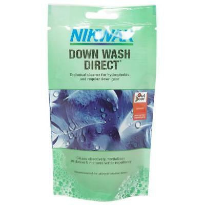 New Nikwax Down Wash Pouch 100Ml Fabric Washing Treatment Cleaning