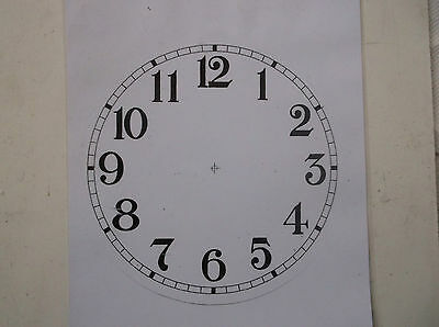 "Round Paper Laminated Clock Dial-6 1/4""  Gloss White-Face"