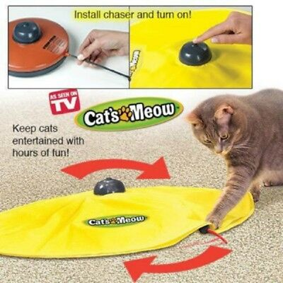 4 Speeds Cat Toy Undercover Mouse Fabric Cat's Meow Interactive Electronic Toy