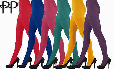 2b52f438457 PRETTY POLLY 60 Denier 3D Coloured Opaque Tights. Red Tights