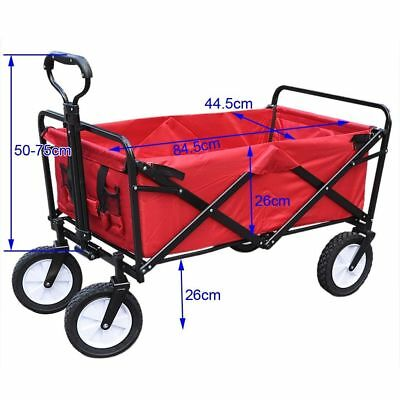 Garden Trolley Cart Wagon Wheelbarrow Tipping Trailer Carrier