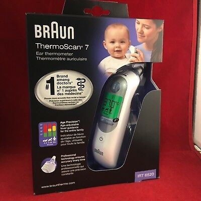 NEW Braun ThermoScan 7 IRT6520 Baby Adult Professional Digital Ear Thermometer