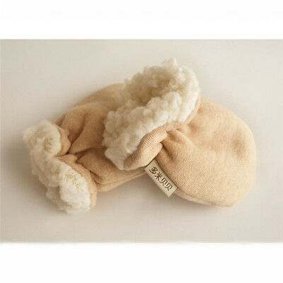 Beige Thicken Warm Winter Mitten Cute Infant Cartoon Gloves For Baby Kids 8C
