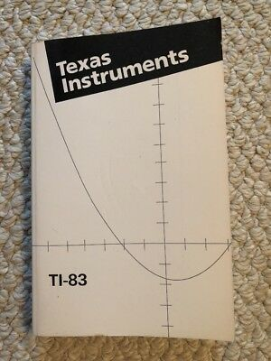 Texas Instruments TI-83 Graphing Calculator Guidebook Operations Functions Table