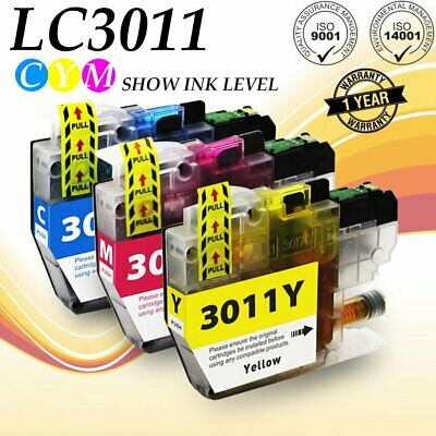 3PK LC3011 CMY Ink Cartridge for Brother MFC-J491DW MFC-J497DW/J690DW/J8950DW
