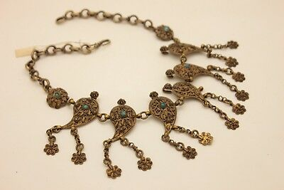 Antique Style Filigree Handmade Silver Gold Plated Amazing Necklase