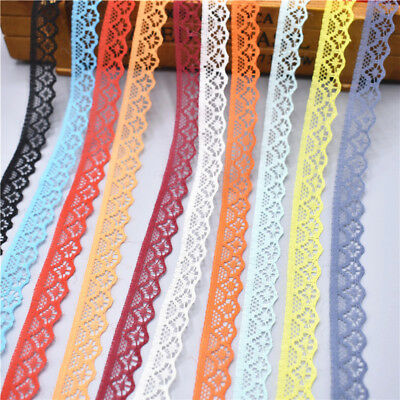 Beautiful 10yards Lace Ribbon Width 14MM Trim Fabric DIY Embroidered For Sewing