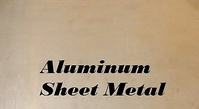 "3 Pieces of 6"" x 8"" Aluminum Sheet Metal .125""(1/8"") Thick / 8 Gauge"