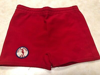 Vintage Official Boy Scout Solid Red Swimtrunks