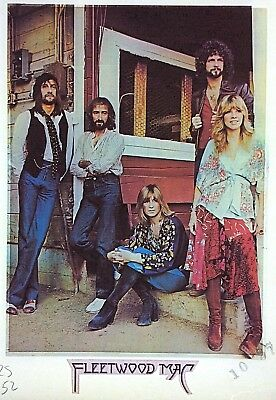 Original Vintage 70s Fleetwood Mac Iron On Transfer Porch Stoop Photo