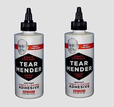 2 TG-6 TEAR MENDER Instant Fabric & Leather Adhesive 6 oz Non-Toxic Fix