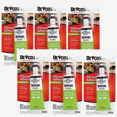 6 New Devcon 12045 Waterproof Silicone Adhesive 1.76oz High Strength Adhesive