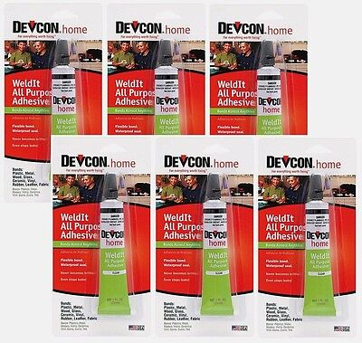 6 New Devcon 18245 Home WeldIt All Purpose Adhesive 1 oz. High Strength adhesive
