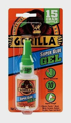 GORILLA Glue Super Glue Gel Adhesive No Run Control Multi Purpose .53oz 05242776