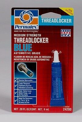 20 oz PERMATEX 24200 THREADLOCKER BLUE Medium Strength Removable Automotive New
