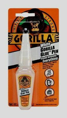 New Gorilla Glue White glue Pen .75 oz Adhesive Precision Applicator 5201103