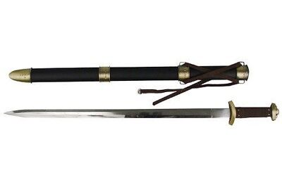 Medieval Godfred Viking Celtic Battle Sword with Stainless Blade and Scabbard