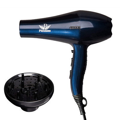 1875W Blue Quick Dry Lightweight Professional Ceramic 2 Speeds Hair Dryer US HOT