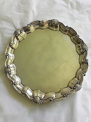 "Sterling Silver Salver, 10"" dia., 1910, Thomas Bradbury & Sons, 634.5 grams."