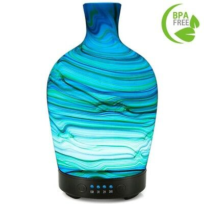 COOSA 100ml Glass Aromatherapy Essential Oil Diffuser Cool Mist Humidifier 4 Tim