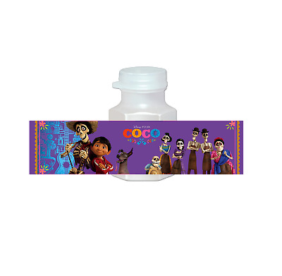 20 Disney Coco Movie Party Favors Bubbles Labels for Treat Birthday Gift Bags