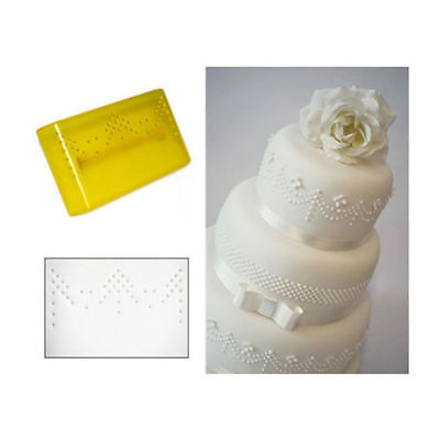 FMM Sugarcraft - Press-Ice Cake Decorating Tool - Pattern 3 - Drape