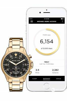 5ccf7afe99a3 MICHAEL KORS ACCESS Mens Gage Gold Tone Hybrid Smart Watch MKT4008 ...