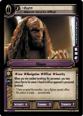 Star Trek CCG 2E Energize Kurn, Bajoran Security Officer 2R107