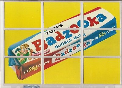 1974 Topps Wacky Packages Series 10 BADZOOKA Puzzle - Clean Checklists