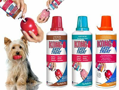 KONG Stuff N Paste Dog Easy Treat Paste Liver Puppy Chicken Rice Cheddar Cheese