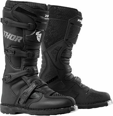 Thor Mens Black Blitz XP Dirt Bike Boots MX ATV 2019