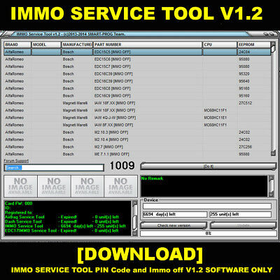 IMMO SERVICE TOOL PIN Code and Immo off V1.2 Read description