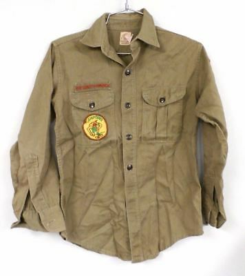 Vtg 1960s Boy Scout of America BSA USA  Sanforized Patch Uniform Shirt Sz M 36""