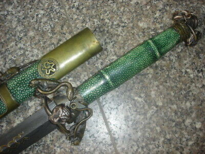 """Collectable Handmade High Quality Double Snake """"剑"""" Sword Sharp Folded Blade"""