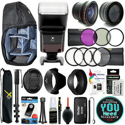 Canon Rebel T3i / EOS 600D Everything You Need Accessory Kit 58MM Lens Bundle