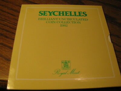 Seychelles Brilliant Uncirculated Coin Collection 1982   Flat A