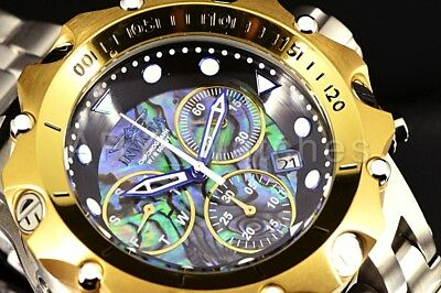 26686 Invicta 54MM VENOM HYBRID Abalone Chronograph Steel Gold Tone Watch New