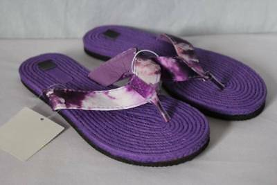 f1765614e0a33 NEW Girls Sandals Small 11 - 12 Purple Flats Flip Flops Summer Shoes Tie Dye