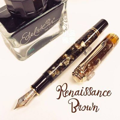 Pelikan M800 Special Edition Renaissance Brown 18K Fountain Pen Ink Set