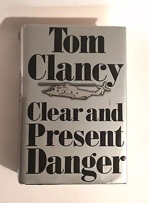 Clear and Present Danger By Tom Clancy First Edition Hardcover Book 1989