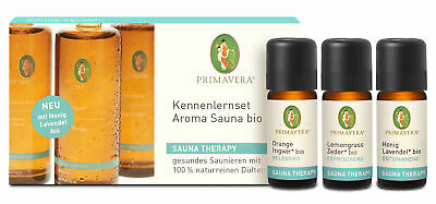 Bio Kennenlern-Set Aroma Sauna, 3 x 10 ml (Orange-Ingwer / Lemongrass-Zeder /