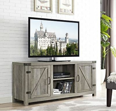 65 Inch Tv Stand Rustic Low Profile Media Console Wood Farmhouse